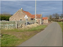 NT5675 : Roadside cottages near Nether Hailes Farm by Oliver Dixon