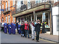 SP9211 : Good Friday in Tring (2) Carrying the Cross by Chris Reynolds