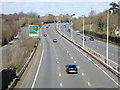 TQ2532 : Looking north on the A23 from footbridge by Shazz