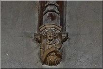 TG2834 : Trunch: St. Botolph's Church: Roof corbel 4 by Michael Garlick