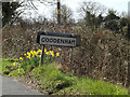 TM1455 : Coddenham Village name sign on Stone Street by Adrian Cable