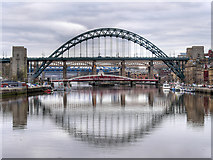 NZ2563 : Five Bridges Cross the Tyne by David Dixon