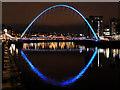 NZ2563 : Gateshead Millennium Bridge at Night by David Dixon