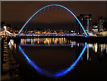 NZ2563 : Gateshead Millennium Bridge at Night by David Dixon