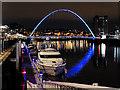 NZ2563 : Newcastle City Marina and Gateshead Millennium Bridge by David Dixon