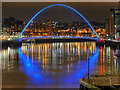 NZ2563 : Night View of Gateshead Millennium Bridge by David Dixon