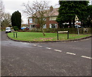 ST6976 : Grass semicircle in Pucklechurch by Jaggery