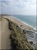 SW6424 : Loe Bar and Porthleven Sands by David Smith