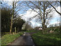 TM1355 : Spring Lane & footpath by Adrian Cable