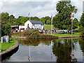 SJ2839 : Entrance to Chirk Marina, Wrexham by Roger  Kidd