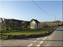 SW6832 : Bus shelter by B3297 near Crelly by David Smith