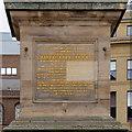 NZ2464 : Grey's Monument Inscription by David Dixon