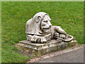 NZ2464 : Leazes Park (21) Left Hand Lion by David Dixon