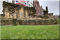 NZ2464 : Newcastle Town Wall, Remains of the Ever Tower by David Dixon