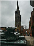 SP3378 : The tower of the old Coventry Cathedral by Graham Hogg