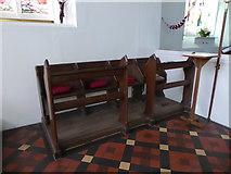SU3477 : St James, Eastbury: choir stalls by Basher Eyre
