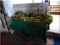 SU3477 : St James, Eastbury: Easter Garden by Basher Eyre