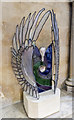 SK9771 : Glass Sculpture, Lincoln Cathedral by Julian P Guffogg