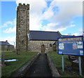 SM9310 : Entrance path to St Peter's Church, Johnston by Jaggery