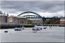 NZ4057 : River Wear, Sunderland by David Dixon