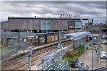 NZ3958 : Stadium of Light Metro Station and Tesco Extra by David Dixon