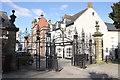 SJ3350 : Entrance to St Giles' Church, Wrexham by Jeff Buck