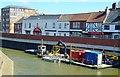 TF4609 : Pontoon on The River Nene, Wisbech by Richard Humphrey