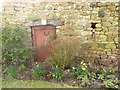 NY6827 : Wayside wall in Knock by Oliver Dixon