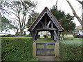 SO9842 : St Michael, Bricklehampton: lych gate  by Basher Eyre