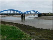 SH9980 : Foryd Bridge from the south by Eirian Evans