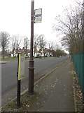 SJ3384 : Disused bus stop, Greendale Road, Port Sunlight by Graham Robson