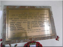 TQ9963 : War memorial in St Mary's Church, Luddenham by Marathon