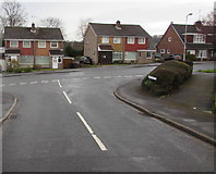 ST3091 : Junction of Cherry Tree Close and Rowan Way, Malpas, Newport by Jaggery