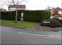 ST3091 : Gate in a Fern Rise hedge, Malpas, Newport by Jaggery