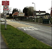 ST3091 : Warning sign - patrol, Almond Drive, Malpas, Newport by Jaggery