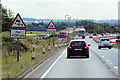 SK6776 : Southbound A1, Major Roadworks at Elkersley by David Dixon