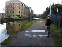 SE1437 : Leeds and Liverpool Canal by Salts Mill Road, Shipley by Rich Tea