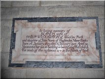 SU3981 : St Mary, Fawley: memorial (a) by Basher Eyre