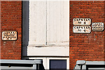 SJ8297 : Railway Signs on 1830s Warehouse at the Museum of Science and Industry by David Dixon