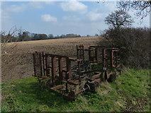 TL0393 : Old farm machinery near Woodnewton by Mat Fascione