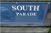 SO8454 : John Gwynn plaque, South Parade, Worcester by Jaggery