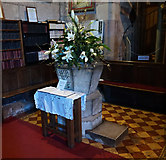 SJ5409 : Font, St Eata's Church, Atcham by Ian S