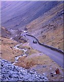 NY2213 : Vintage cars in Honister Pass 1972 by Jim Barton