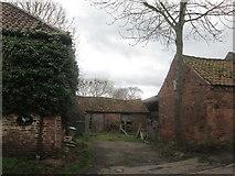 SK7476 : Outbuildings at Glebe Farm, Headon by John Slater