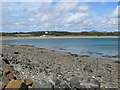 SH3834 : View from the breakwater near the Afon Erch, Pwllheli by Eirian Evans