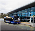SS9079 : X2 bus outside Bridgend bus station by Jaggery