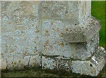 SP9599 : Bench mark, Church of St. John the Baptist, Wakerley by Alan Murray-Rust