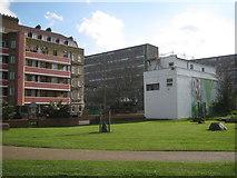 TQ3378 : Southwest corner of Surrey Square Park, by Kinglake Street, Walworth by Robin Stott