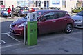 O2718 : E-Car charge point and car, Bray by Rossographer