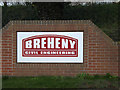 TM0955 : Breheny Civil Engineering sign by Adrian Cable